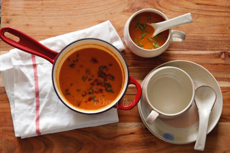 Roast Capsicum Soup