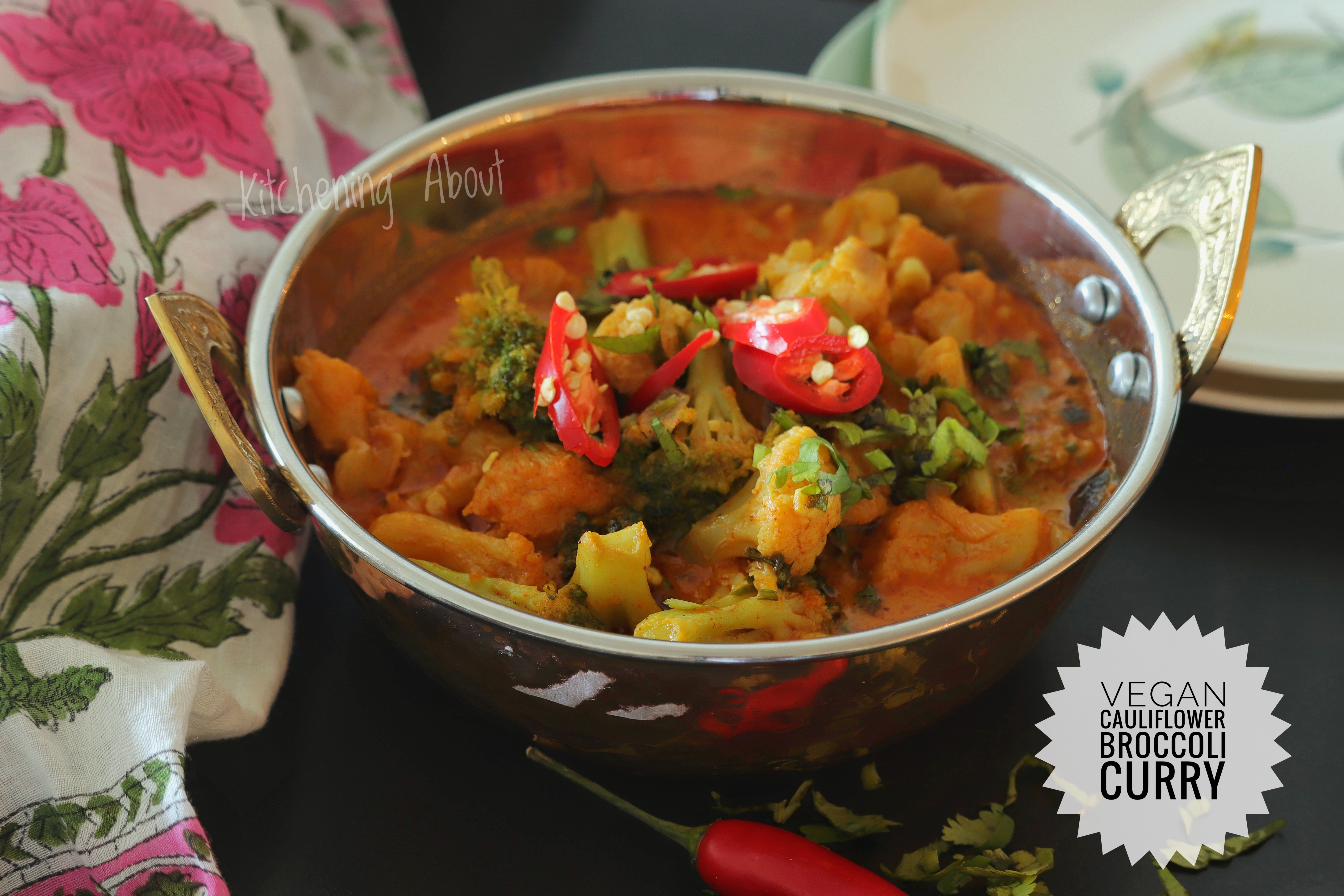 Vegan Cauliflower Broccoli Curry Low Carb And Keto Compliant Kitchening About