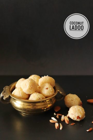 Coconut Ladoo with Almonds